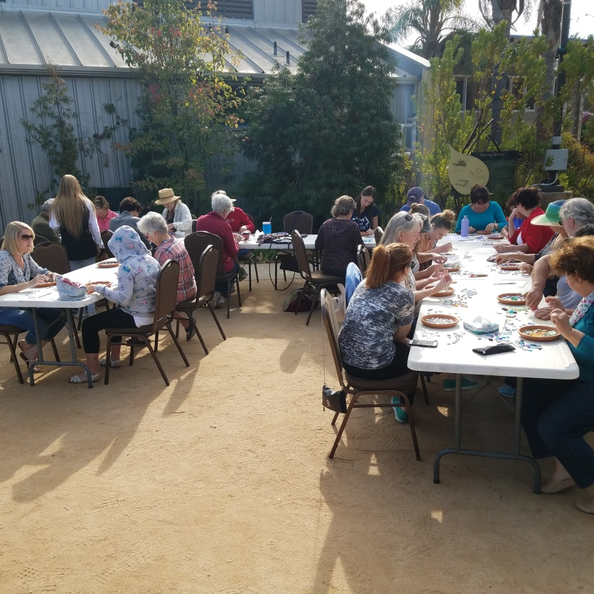 Beautiful gathering and teaching space at the Water Conservation Gardens